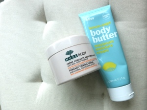 Best body creams - Bliss lemon and sage body butter & Nuxe nuxe body fondant firming cream