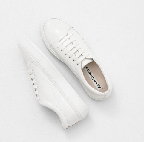 acne studio leather sneakers