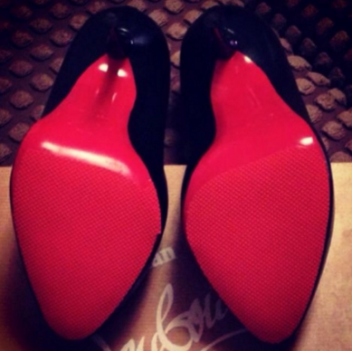 sole of Louboutins