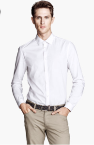 white men's shirt