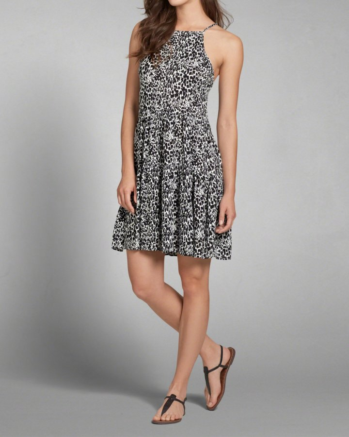 A&F Patterned Swing Dress