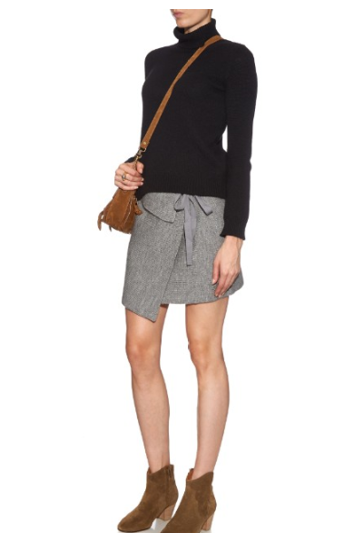 etoile isabel marant Lyneth wrap-front knit mini skirt