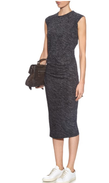 isabel marant warrivk jersey midi dress