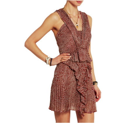 isabel marant sale - Macy printed silk-chiffon mini dress