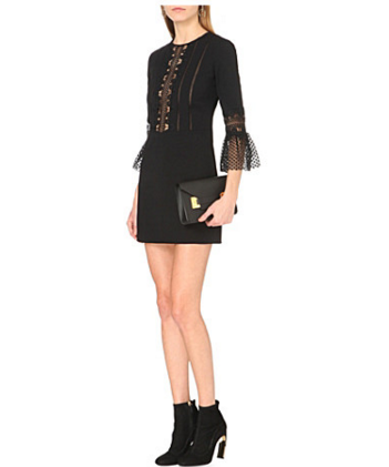 self portrait bell sleeved shift dress £245