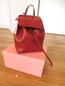 mansur gavriel mini backpack full front