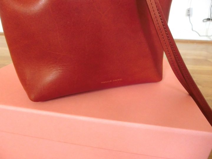 mansur gavriel mini backpack gold lettering