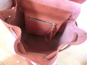 mansur gavriel mini backpack inside