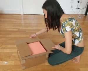 mansur gavriel mini backpack pink box