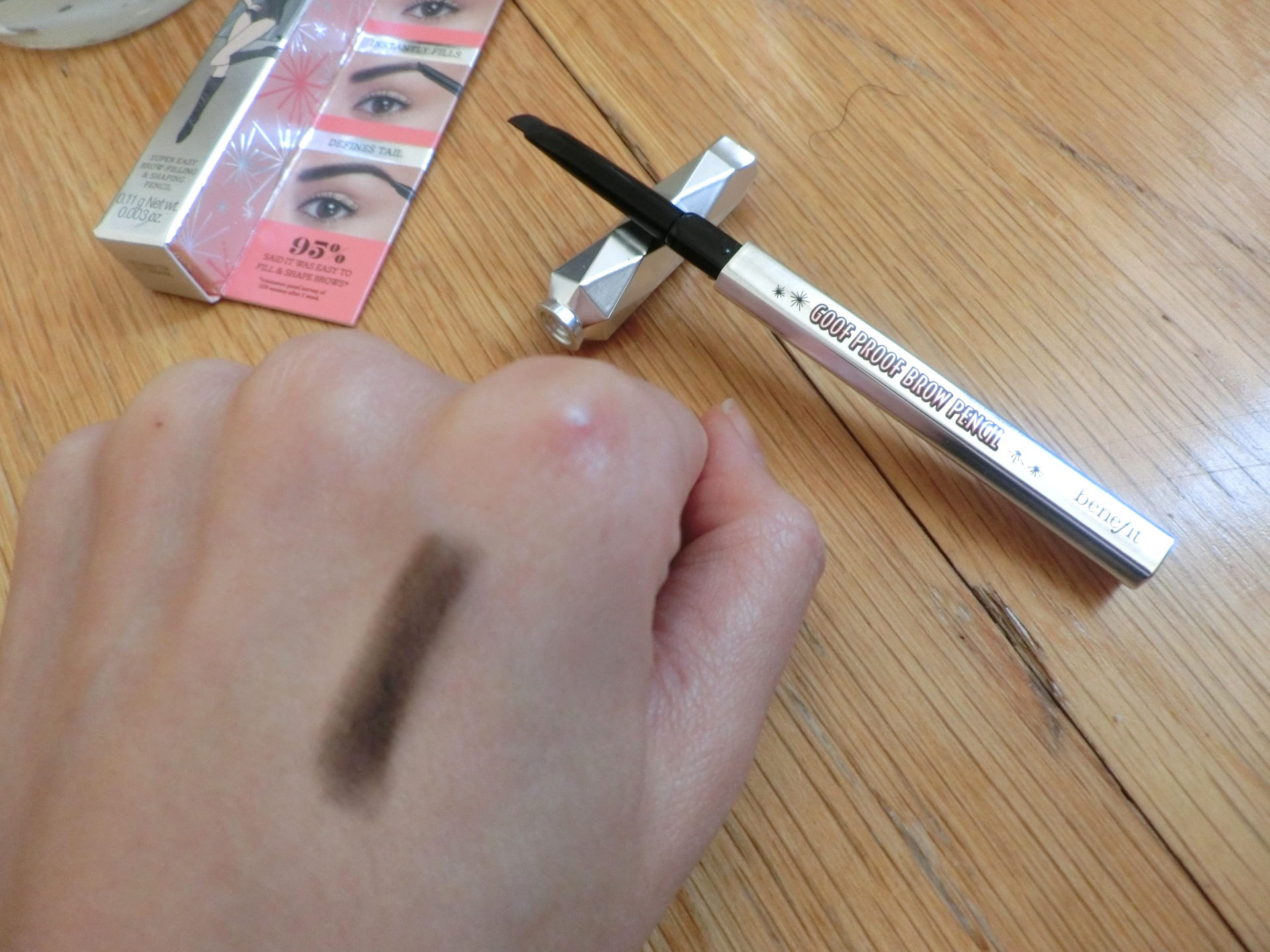 swatch benefit goof proof brow pencil no 6