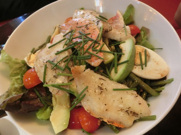 Assorted grilled fish salad les mouettes