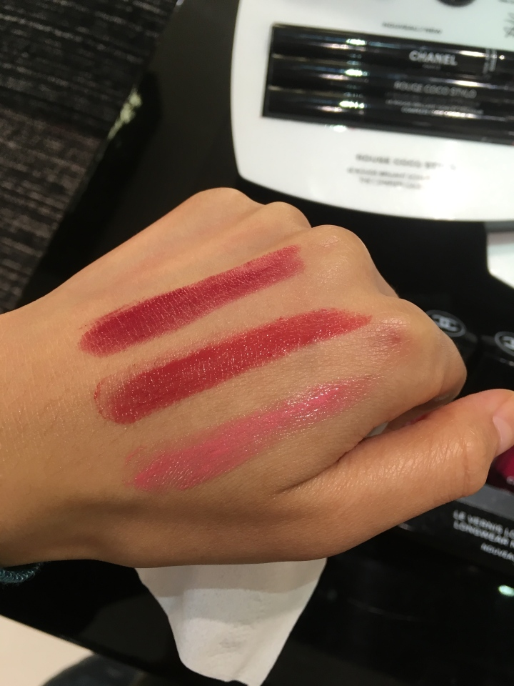 chanel coco rouge stylo swatches part 1