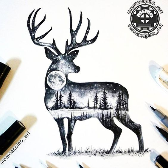 deer-tattoo-10