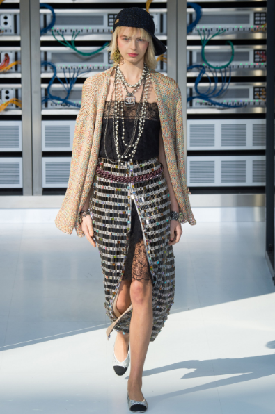 slouchy-cardigan-slip-dress-and-tweed-skirt-80s-inspired-chanel-ss17-followmeesh
