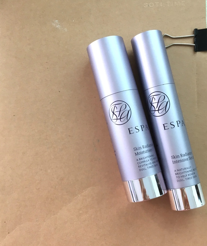 ESPA skin radiance range review - serum & cream