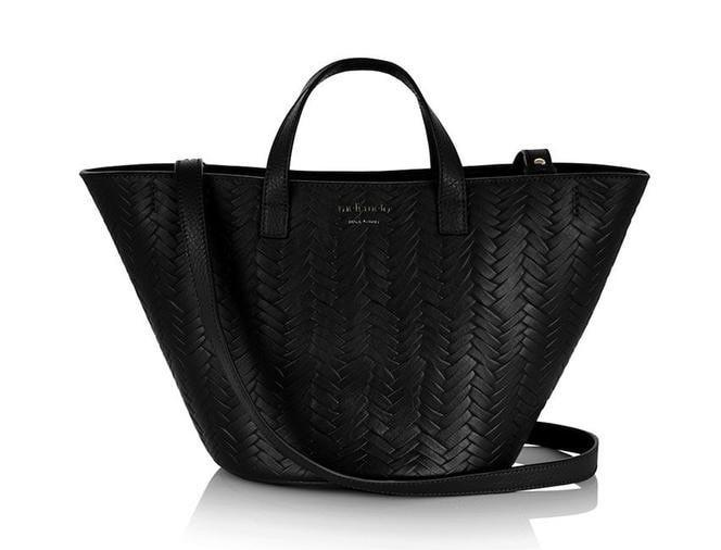 meli melo basket inspired leather handbag