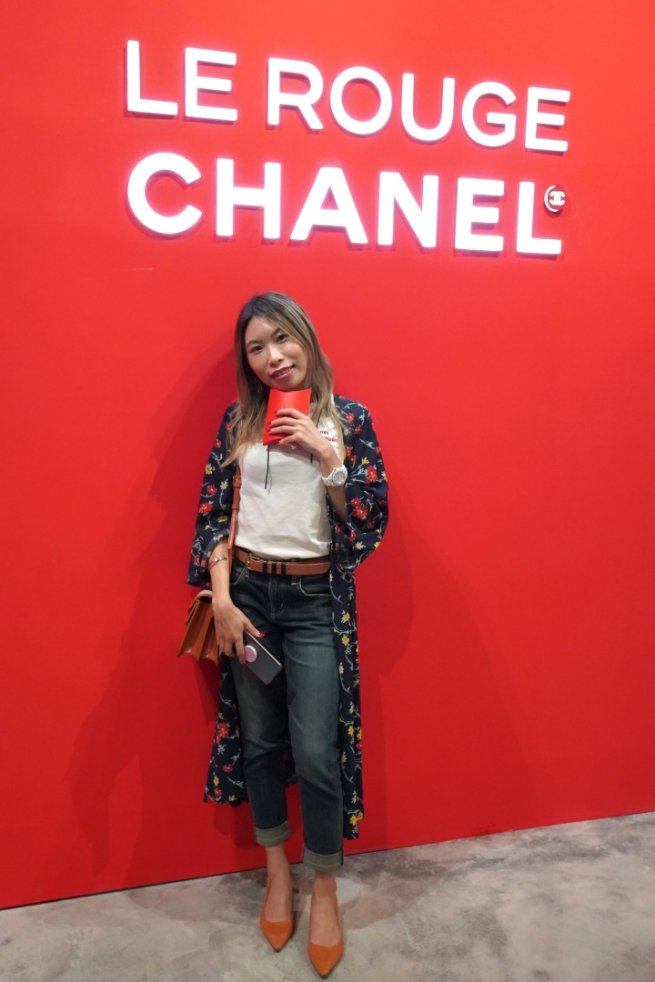 chanel le rouge event on 9 Queens Road Central Hong Kong