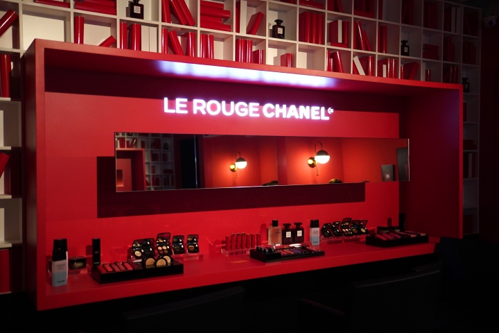 le rouge chanel makeup station