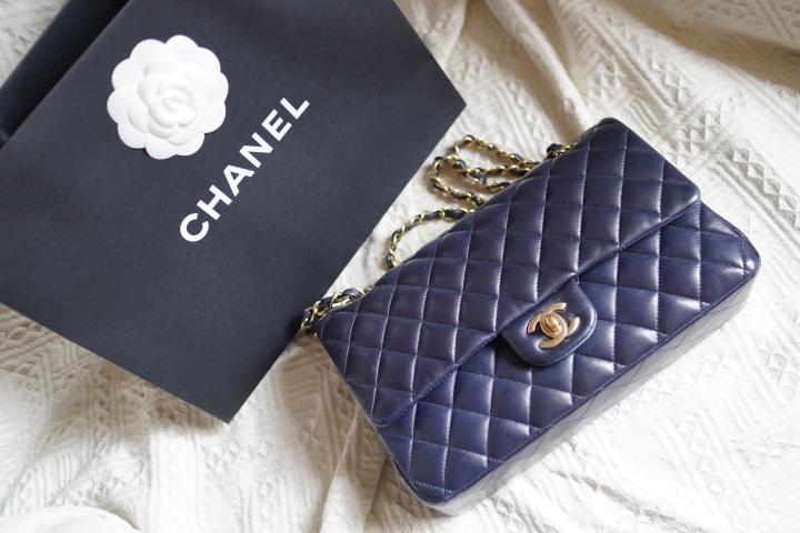 Chanel midnight blue classic double flap